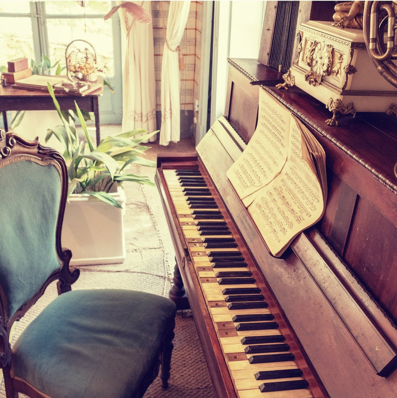chair music musical instrument piano